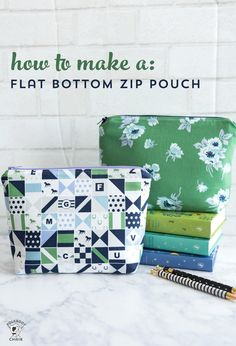 Learn to Sew Series: Stitch an Adorable Zippered Pouch Sewing projects Easy Sewing Projects, Sewing Projects For Beginners, Sewing Hacks, Sewing Tutorials, Sewing Crafts, Sewing Tips, Sewing Basics, Diy Gifts Sewing, Makeup Bag Tutorials