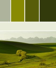 Green to gray.