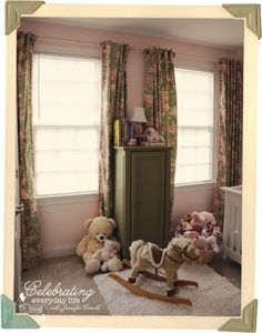 {let's decorate with} Pink & Green Drapes in a small little girl's bedroom