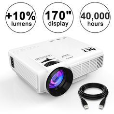 J Professional Supported Portable Movie Projector, Mini Projector with Projector Screen, Compatible with TV… Best Outdoor Projector, Best Projector, Movie Projector, Home Theater Setup, Home Theater Speakers, Home Theater Projectors, Theatre, Multimedia, Projector Reviews
