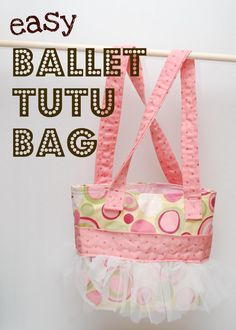 Easy Ballet Tutu Bag Do not be intimidated- if you can sew a straight line (or heck, close to it) you can do this!