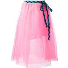 Marc Jacobs full tulle skirt ($309) ❤ liked on Polyvore featuring skirts, tulle skirt, mid calf skirts, pink skirt, pink midi skirt and layered tulle skirt