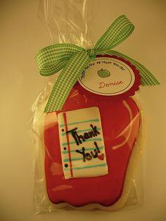 Teacher Appreciation Apple Cookies