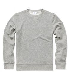 Men's Loopback Cotton Sweatshirt in Grey Melange | Sunspel