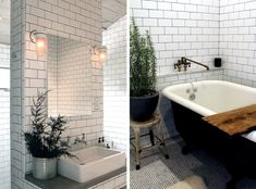 5 Favorites: Tiled Baths with Dark Grout : Remodelista