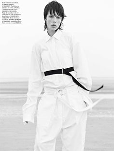 Edie Campbell is photographed by Karim Sadli and styled by Joe McKenna in the story 'Sur Le Sable' for Vogue's Paris November Issue.