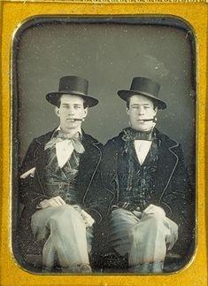 "tuesday-johnson: "" ca. 1840-60, [daguerreotype portrait of James Rossi and William Bennett], James Rossi """