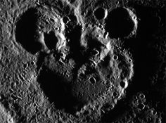 NASA Captures Mickey Mouse Silhouette on Mercury. This is funny because my daughter is obsessed with the space travel episodes of Mickey Mouse Clubhouse.