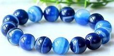 blue agate meditation anxiety BFRB fiddle bracelet