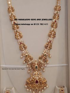 Grt Jewellery Gold Necklace Designs With Price Real Gold Jewelry, Gold Wedding Jewelry, Gold Jewelry Simple, Bridal Jewelry, Indian Jewelry, Diamond Jewelry, Jewelry Design Earrings, Gold Earrings Designs, Gold Jewellery Design