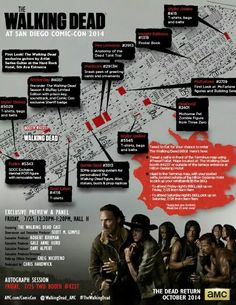 SAN DIEGO COMIC CON ~ THE WALKING DEAD SCHEDULE ~ NEXT YEAR I'M GOING - NOTHING WILL KEEP ME AWAY