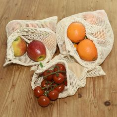 TreeBox Premium Obst- und Gemüsebeutel im 3er Set Serving Bowls, Vegetables, Tableware, Fruit And Veg, Packaging, Life, Cotton, Dinnerware, Tablewares