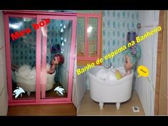 Como fazer box para banheiro casa da Barbie e monster high