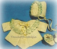 Crochet FRILLED Baby LAYETTE Vintage Crochet by touchofnostalgia7, $3.75