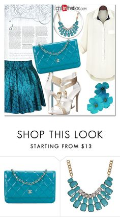 """Turquoise"" by nerma10 ❤ liked on Polyvore featuring Chanel"