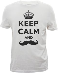 Keep Calm and Moustache (Movember Tee) - graphic tshirt Designed for Bluenotes