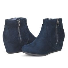DREAM PAIRS Women's Fashion Casual Outdoor Low Wedge Heel Booties Shoes >>> Tried it! Love it! Click the image. : Ankle Boots