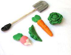 Peter Rabbit Themed cake topper decoration vegetables