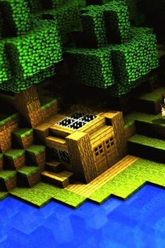 A small house easy to make in survival - minecraft Minecraft Pokémon, Construction Minecraft, Minecraft Houses Survival, Easy Minecraft Houses, Minecraft House Designs, Minecraft Tutorial, Minecraft Blueprints, Minecraft Creations, Minecraft Crafts