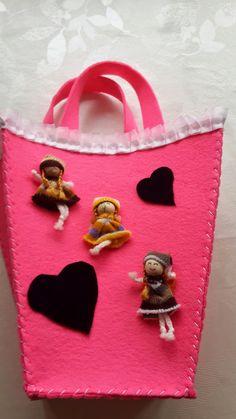 herteldentasarım: Keçe El Çantası Yapımı- DIY Felt Bag
