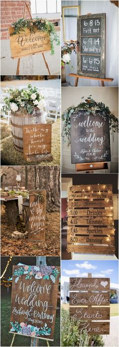 18 Rustic Budget-Friendly Rustic Wedding Signs Ideas Rustic wedding signs are de. 18 Rustic Budget-Friendly Rustic Wedding Signs Ideas Rustic wedding signs are definitely one of the most popular ite Rustic Wedding Signs, Chic Wedding, Perfect Wedding, Our Wedding, Dream Wedding, Fall Wedding, Rustic Wedding Bouquets, Wedding Tips, Rustic Weddings