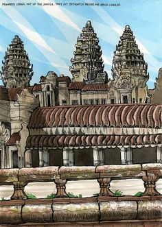 Angor Wat in Cambodia by Tommy Kane.