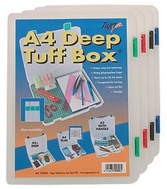 Quality Tuff Boxes Deep and Slim for Storage, Filing Documents Box Files Deep, Document, Transparent, Box, Create Yourself, Hold On, Stationery, Storage, Paper