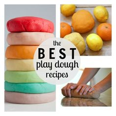 An excellent collection of homemade play dough recipes (especially love the Jell-O and calming lavender versions) - pinning for a rainy day!...