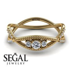 Yellow Gold Engagement Ring by Segal Jewelry Lotus Engagement Ring, Victorian Engagement Rings, Unique Diamond Engagement Rings, Classic Engagement Rings, Beautiful Engagement Rings, Designer Engagement Rings, Diamond Wedding Rings, Diamond Rings, Black Diamond