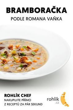 Czech Recipes, Cheeseburger Chowder, Soups, Food And Drink, Cookies, Crack Crackers, Biscuits, Soup, Cookie Recipes