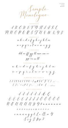 Cursive Alphabet Discover Simple Monologue - Beauty Font by Konstantine Studio on Calligraphy Fonts Alphabet, Cursive Alphabet, Hand Lettering Alphabet, Learn Calligraphy, Handwriting Fonts, Script Fonts, Handwriting Practice Free, Full Alphabet Fonts, Alphabet Art