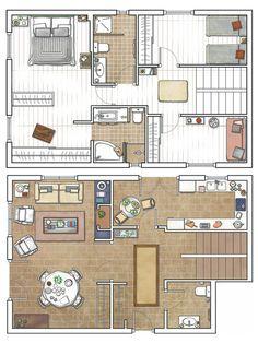 plano de duplex buena distribución http://patriciaalberca.blogspot.com.es/