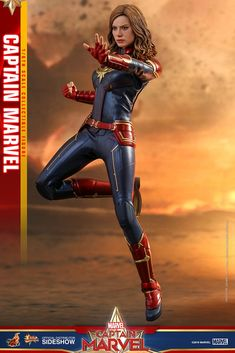 """Captain MarvelPRE-ORDER: ETA not gonna fight your war, I'm gonna end it."""" While Captain Marvel is coming to theaters in less than a month, anticipation for this forthcoming installment in the Marvel Cinematic Universe is running exceptio Captain Marvel Costume, Marvel Costumes, Marvel Comics, Marvel Avengers, Captain Marvel Carol Danvers, Coming To Theaters, Flight Bomber Jacket, Brie Larson, Fiction"""