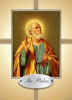 São Pedro orações em papel santinhos para promessa - Santinhos Ajuda Divina