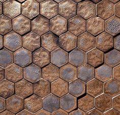 X sheet of mini hexagon mosaic tiles Hexagon Mosaic Tile, Hexagon Pattern, Tile Mosaics, Tile Art, Wall Tile, 3d Wall, House Tiles, Handmade Tiles, Color Tile