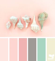 24 New ideas for bedroom colors pink design seeds Palette Design, Color Schemes Design, Pink Color Schemes, Colour Pallete, Color Combos, Coral Colour, Coral Pink, Pastel Pink, Pink Grey