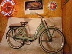 1950s-MONARK-DELUXE-SUPER-CRUISER-TANK-BICYCLE-SPRINGER-FORK-RACK-LIGHT-VINTAGE