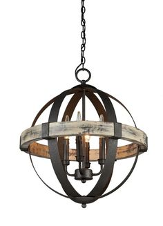 View the Artcraft Lighting AC10015 Castello 4 Light Wood Mini Chandelier - 20 Inches Wide at LightingDirect.com.