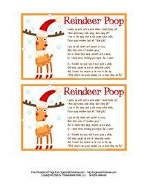 Reindeer Poop Gift Tags