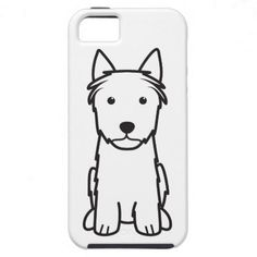 Silky Terrier Dog Cartoon iPhone 5 Cases