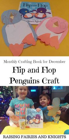 Flip and Flop Penguins Craft - Time for December's edition of the Monthly Crafting Book Club, winter themed books from bloggers.  I am covering Flip and Flop, check out the book and craft.