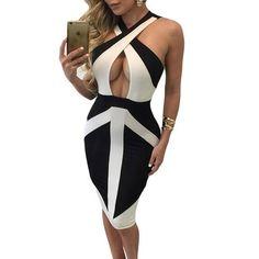 2016  Hip Hop Sexy Bandage Slip Dress Women Night Club Women Party Dresses Korean-fashion Sundress Midi Summer vestido de festa - Seasons Chic
