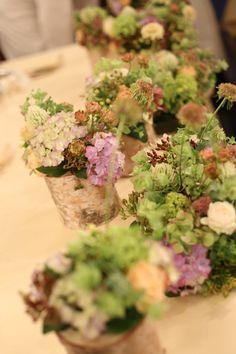 シェ松尾青山サロン様の装花 森のように、ティモテのCMのように : 一会 ウエディングの花