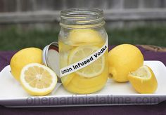 How to make Lemon Infused Vodka