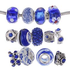 eART Murano Lampwork Charm Glass Beads Tibetan Crystal European Charm Bracelet Mix Assortment Royal Blue 15 Pcs eART http://www.amazon.com/dp/B0105VN7MG/ref=cm_sw_r_pi_dp_.UgIwb1WMNH6S