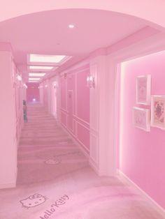 Pink motel floor!!