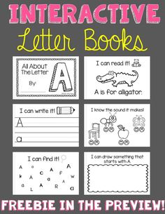 Interactive books for all the letters! Download the PREVIEW for a FREEBIE letter A book!