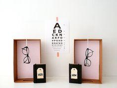 window dressing optician's shop
