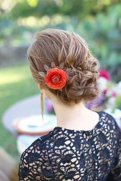 #coiffure fleurie