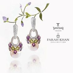 """My classic favourite Pearl earrings from #thefarahkhancollection for #Tanishq #tanishqxfarahkhan @tanishqjewellery . The seasons must have. Available…"""